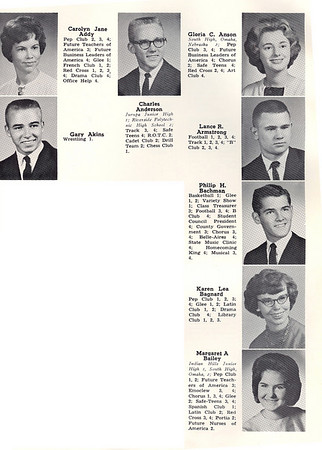 Chieftain Yearbook Photos 1963