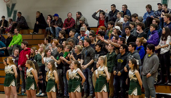 Set two: Winter Cheer and Crowd at Basketball v Cascade Christian 2018