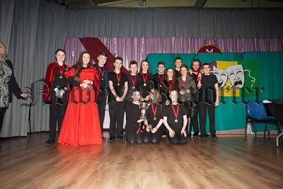 "The winners of the best play at the one act festival  ""Romeo and Juliett"" organised by the Sheridan Stage school and helf in St Mary's High School. R1607010"