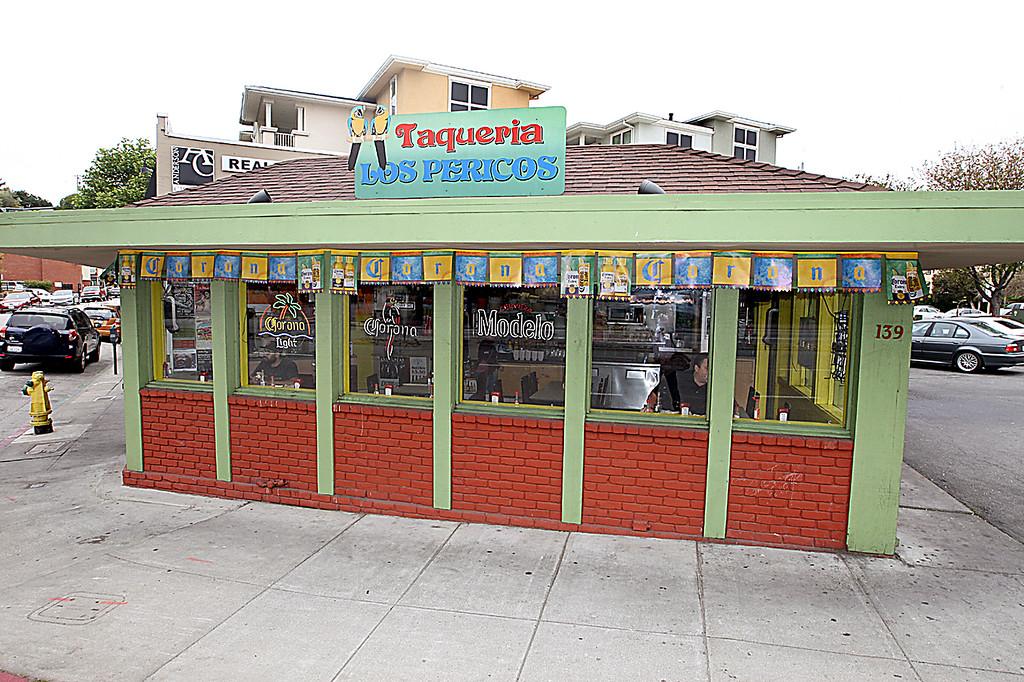. Taqueria Los Pericos occupies the corner at Waterand River streets. (Dan Coyro -- Santa Cruz Sentinel)