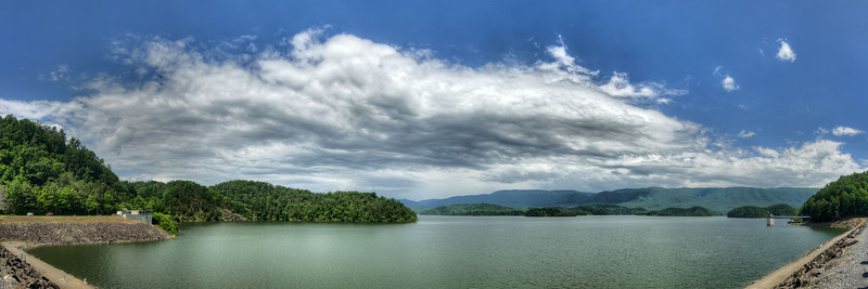 A view from the top of the dam at South Holston Lake near Bristol, TN on Monday, June 3, 2013. Copyright 2013 Jason Barnette