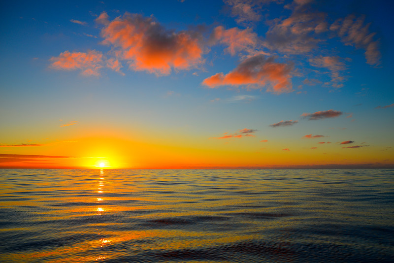 Dotted Sunrise in the Pacific Ocean