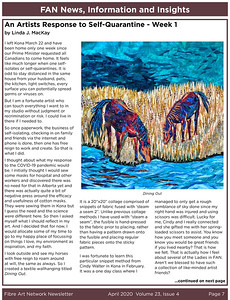 Fibre Art Network Newsletter April 2020