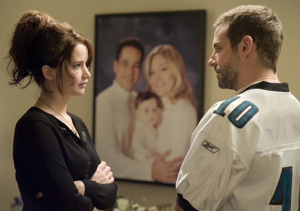 Description of . Jennifer Lawrence stars as Tiffany and Bradley Cooper stars as Pat Solitano in The Weinstein Company\'s Silver Linings Playbook (2013)