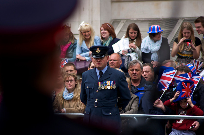 Royal Wedding – RAF WO on parade.
