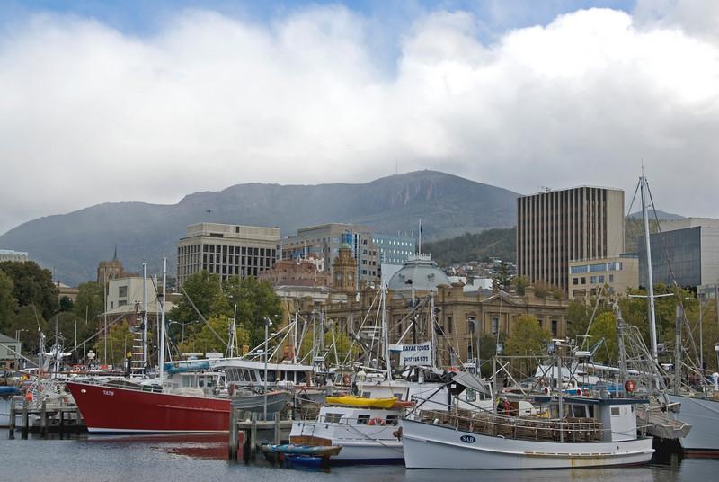 Skyline and Mount Wellington From Harbot - Hobart, Tasmania, Australia
