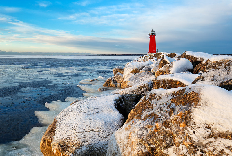 Frigid Light - Manistique Lighthouse (Manistique, MI)