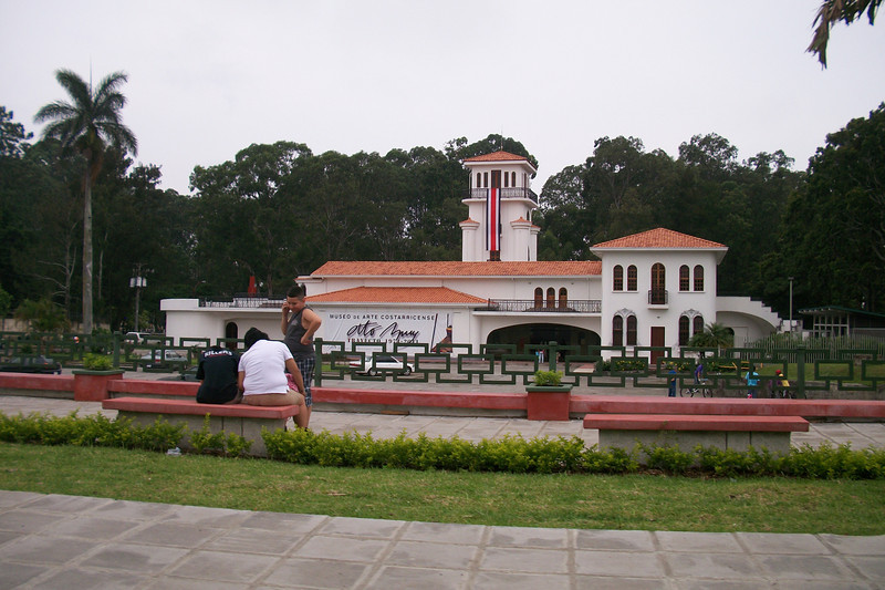 """ART MUSEUM / Museo de Arte Costarricense (MAC)  (http://Musarco.go.cr / 2-256-1281 / 2-257-5224 / 2-222-7155 Ext. 103 / 2-222-7247 / macprensa@Musarco.go.cr)     This beautiful building is on the site of the old international airport (till '55 though a local airport till '75) and houses some of Costa Rica's finest art and is modern art in itself personified. If the 2nd floor is open during your visit (though it's often mainly used when local dignities are hosting visiting dignitaries), check out the large """"Gold""""/Diplomatic/Conference Room's bas-relief walls which chronicle the history of Costa Rica from pre-Columbian times to the present with evocative images of its people. It's a relatively small collection currently, but it includesworks from famous Costa Rican artists Jorge Jimenez Deredia, Max Jimenez, Jose Sancho and Francisco Zuñiga. Highlights - the Sculpture Garden's out back & the beautiful outdoor setting.   LOCATION:   At the Eastern entrance to Sabana Park, across from the Soda Tapia.     HOURS:  Tues.-Fri. 9am-5pm (Closed on Mon.).  Sat. and Sun. 10am-4pm.  PRICE:  Adults $5, Students $3, kids under 2 free. FREE ON SUNDAY!!!"""
