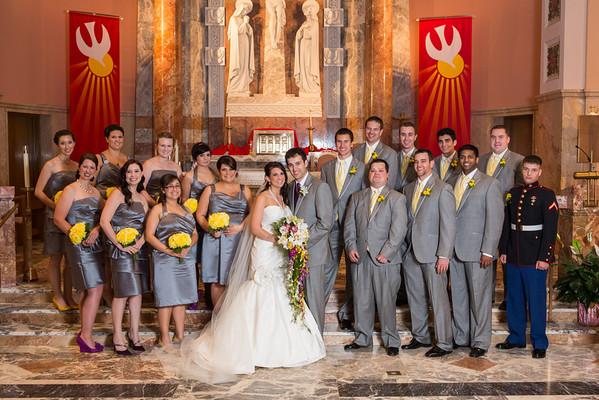 Nick and Nicole  Wedding - Couple and Wedding Party