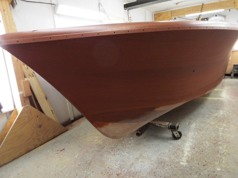 Port side stained.