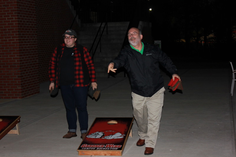 """Studnets and Faculty gather for """"Stress No S'mores"""""""