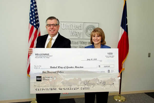 United Way Check Presentation 2010