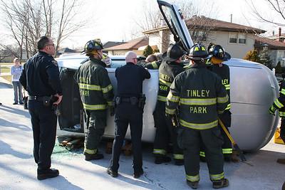 TINLEY PARK IL, ROLL OVER CRASH 1/16/2008