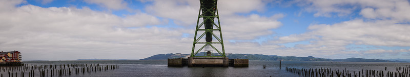 The Astoria-Megler Bridge connecting Oregon and Washington via Highway 101 across the Columbia River.
