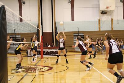 Arcadia v Athena volleyball 8 30 12