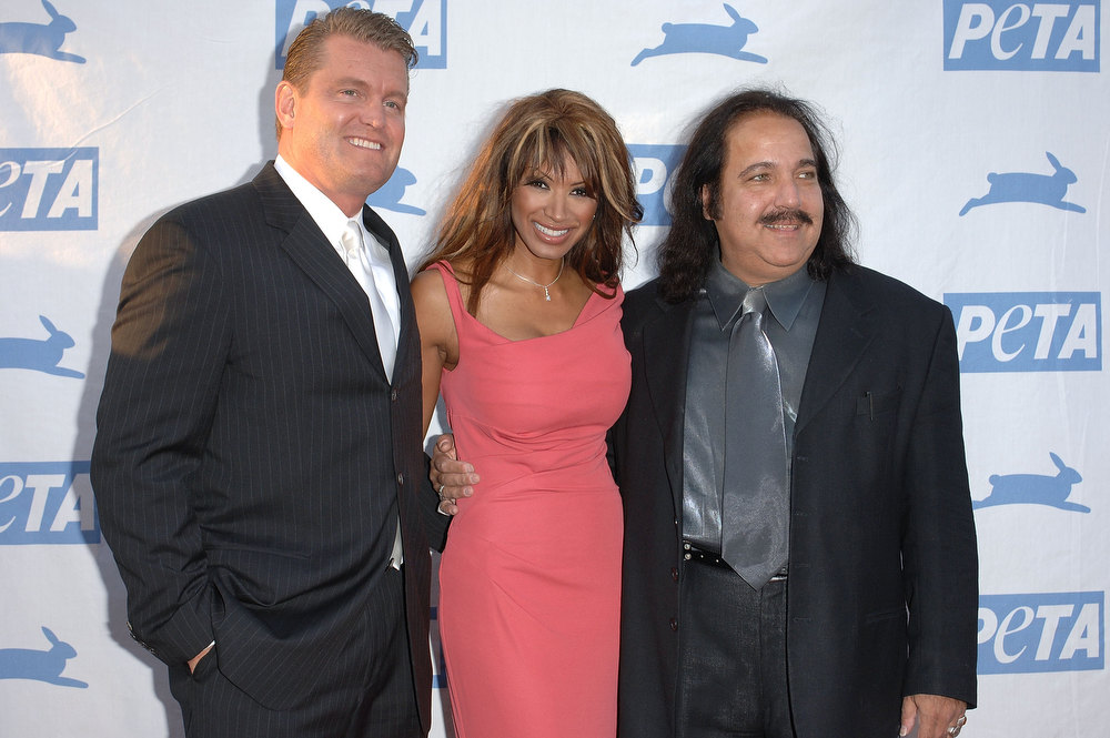 . John Yarbrough husband of actress Traci Bingham and adult film star Ron Jeremy and arrive at PETA\'s 15th Anniversary Gala and Humanitarian Awards at Paramount Studios on September 10, 2005 in Hollywood, California.  (Photo by Stephen Shugerman/Getty Images)