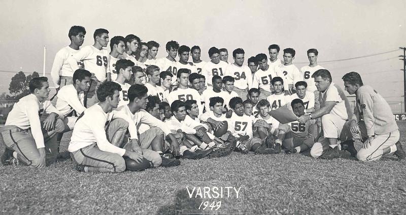 1949, Varsity Football Team