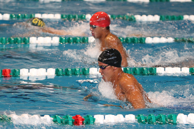 Close battle with Orange Coast, Cuesta and Golden West in mens 400 medley relay