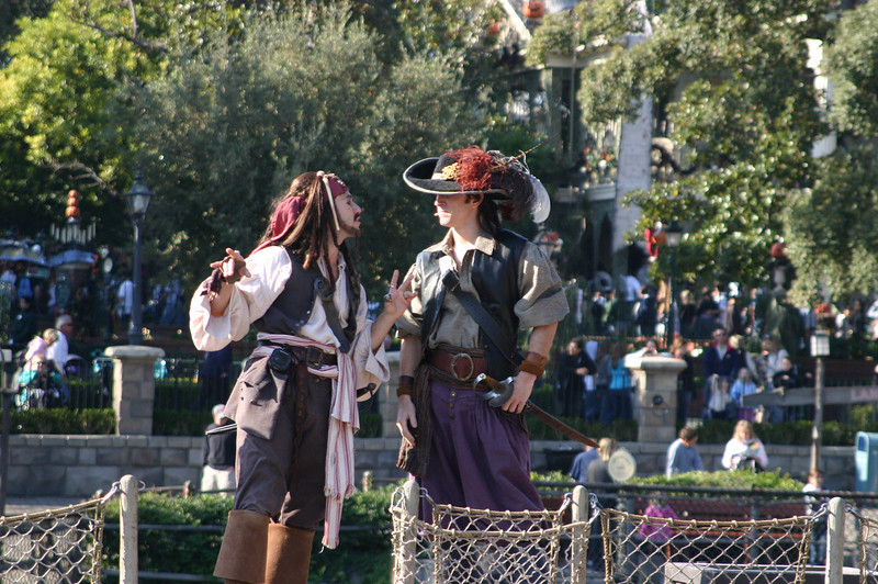 Jack Sparrow and opponent on Pirate Island. The actor captured Jack's mannerisms amazingly well.