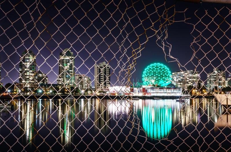 VancouverScienceWorldNightCityscapeWaterReflectionsPrint.jpg