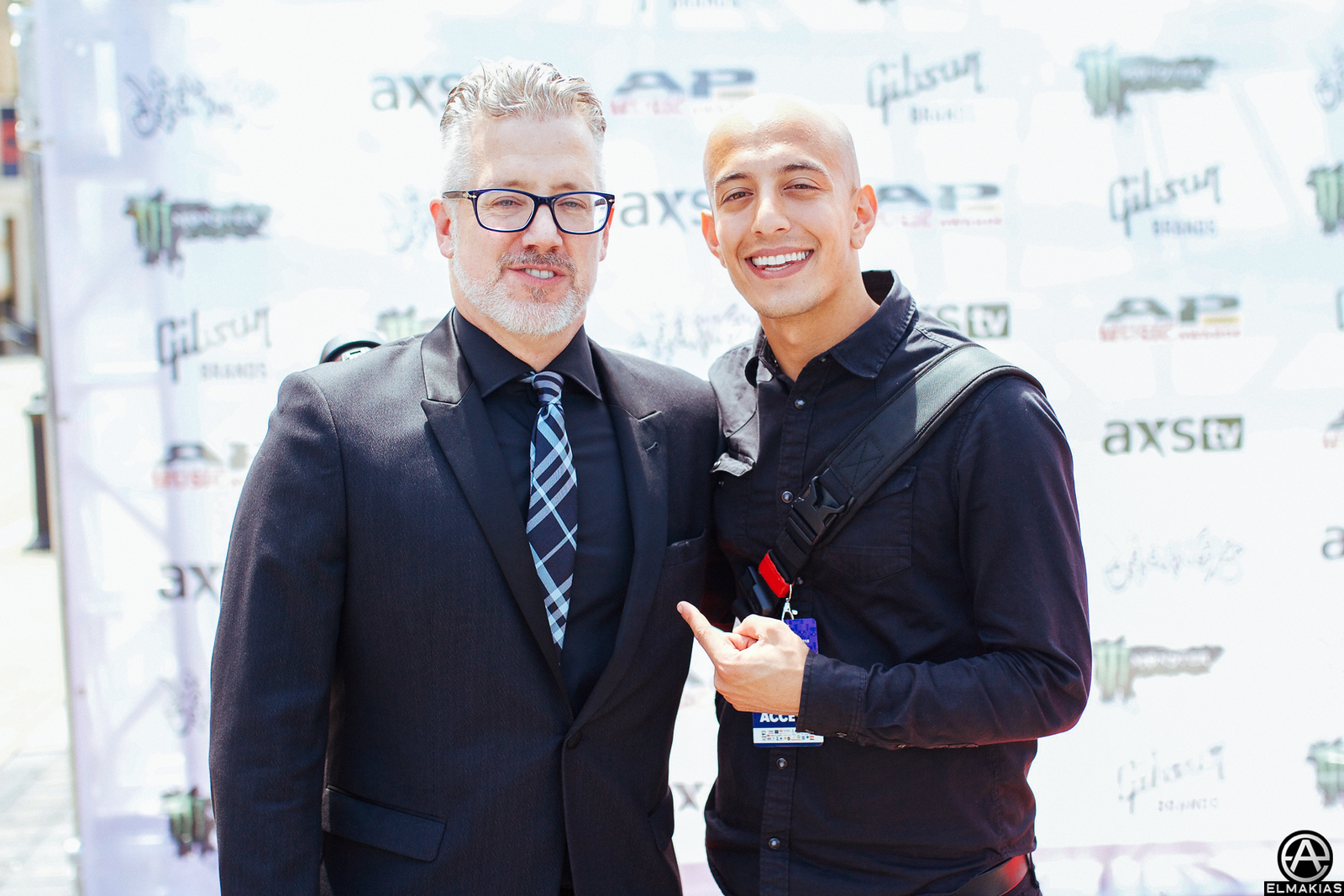 Mike Shea, CEO & Founder of Alternative Press & I on the red carpet at the Alternative Press Music Awards 2015