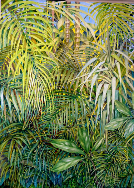"""© 2012 John Rachell Title: Garden, October 1, 2012 Image Size: 36"""" W by 48"""" D Dated: October 1, 2012 Medium and Support: Oil paint on canvas Signed: LR Signature"""