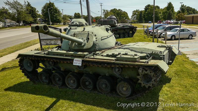 1-126 Cavalry, Michigan ARNG Armory - Wyoming, MI - M48 & M60A3