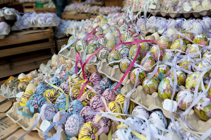 Colorful Easter eggs in Vienna, Austria