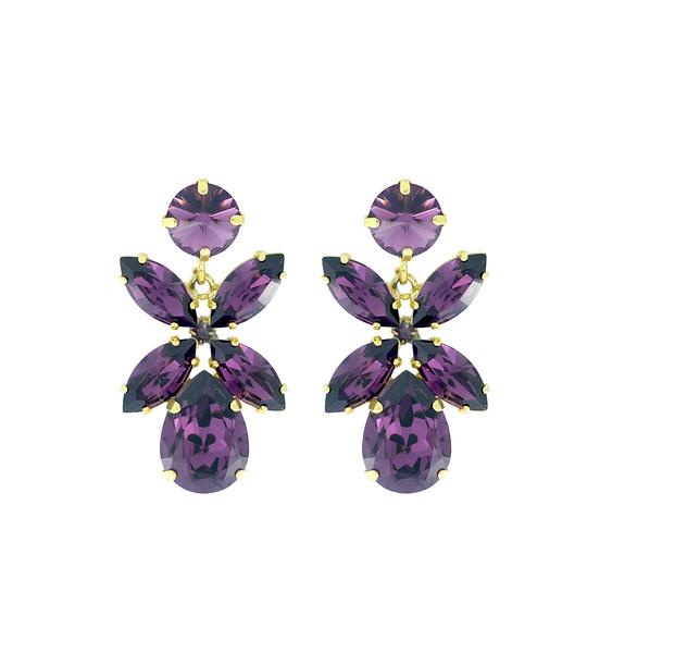 Dione Earrings / Amethyst