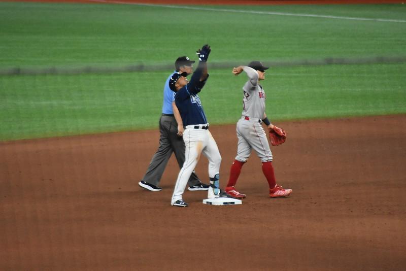 Wander Franco first MLB at bat!