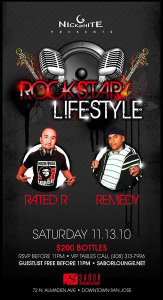 Nick@Nite presents ROCKSTAR LIFESTYLE @ SABOR Tapas Bar & Lounge 11.13.10