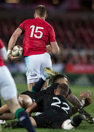 Liam Williams during game 7 of the British and Irish Lions 2017 Tour of New Zealand, the first Test match between  The All Blacks and British and Irish Lions, Eden Park, Auckland, Saturday 24th June 2017 (Photo by Kevin Booth Steve Haag Sports)  Images for social media must have consent from Steve Haag