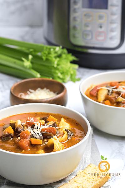 Vegan Italian Recipes - Minestrone Soup (Instant Pot)