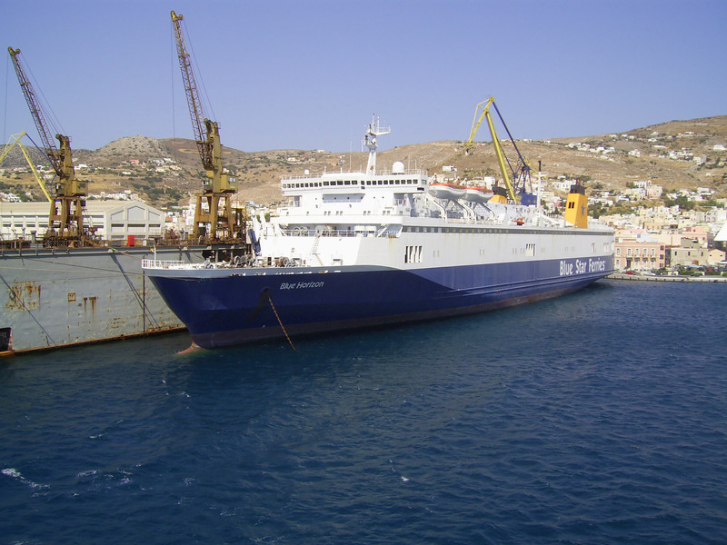 2012 - BLUE HORIZON laid up in Syros.