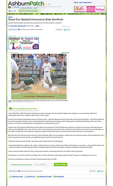 Broad Run Baseball Advances to State Semifinals - Ashburn, VA Patch.png