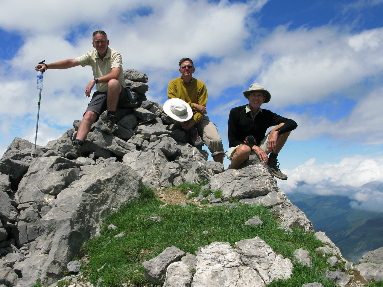 Edward, Gareth and Vic on the summit of Pico Llena de La Garganta 2599m