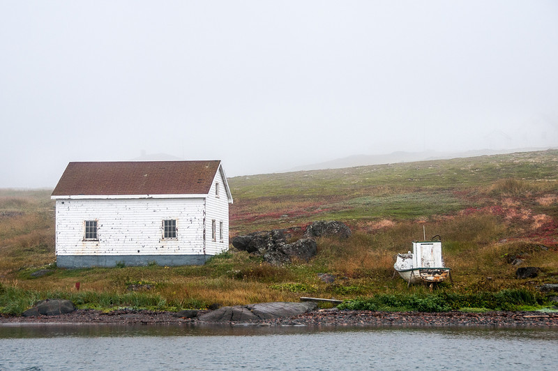 Abandoned building in Red Bay, Newfoundland and Labrador, Canada