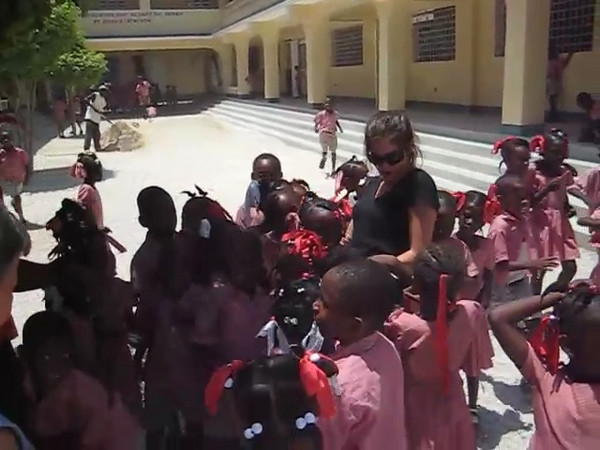 At the school  that Leon De Orleans has built in Blanchard, a community about 5 miles from Citi Soliel, Port au Prince , Haiti.