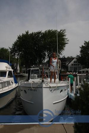 July 22, 2010, a beautiful 1945 built steel cruiser visited Pleasantville