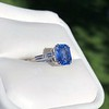 Vintage-Inspired and Contemporary 3.03ct Blue Sapphire Ring (GIA, No-Heat)) 20