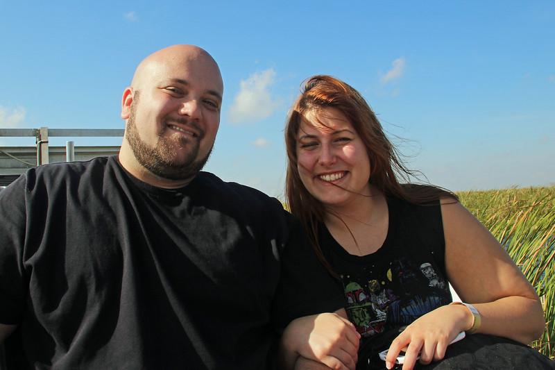 Matt & Danielle on Airboat