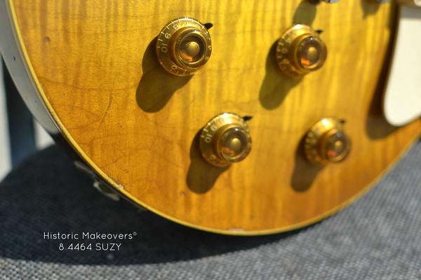 1958 Gibson Amber Bonnet knobs Gibson Les Paul