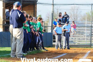 Softball: Woodgrove at Loudoun County (4-12-2013 by Jeff Vennitti)