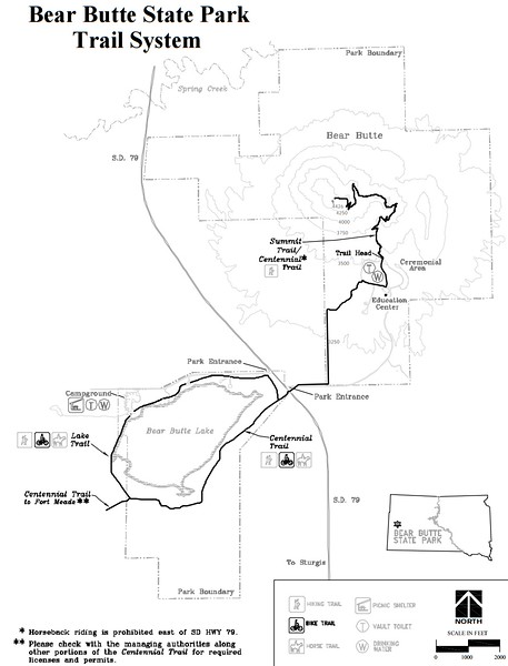 Bear Butte State Park (Trail Map)