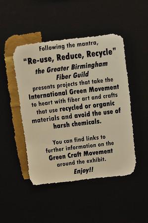 Greater Birmingham Fiber Guild Goes Green
