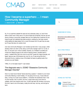 CMAD, How i became a community manager