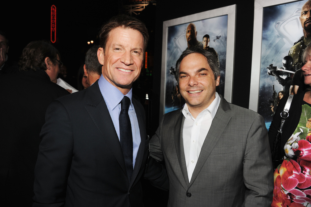 ". Hasbro CEO/Producer Brian Goldner and President/ Paramount Film Group Adam Goodman attend the premiere of Paramount Pictures\' ""G.I. Joe:Retaliation\"" at TCL Chinese Theatre on March 28, 2013 in Hollywood, California.  (Photo by Kevin Winter/Getty Images)"