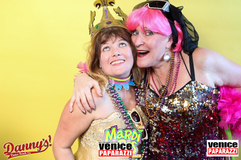 Venice Beach Mardi Gras After Party at Danny's.  www.DannysVenice.com.  Photo booth by VenicePaparazzi.com