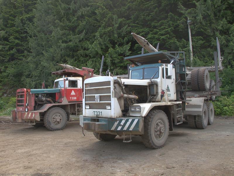 Some big trucks.
