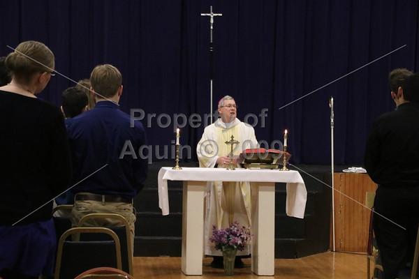bishop malloy visits aquin . 1.9.17